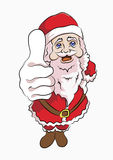 Santa claus wearing red thumbs upward Royalty Free Stock Photography