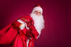 Santa Claus, Weihnachten, Tasche Stockfoto