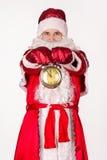 Santa Claus, Weihnachten, Uhr Stockbild
