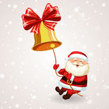 Santa Claus, welche die Glocke schellt stock abbildung