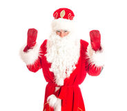 Santa Claus welcomes you. Royalty Free Stock Photography