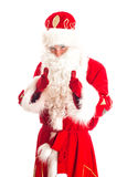 Santa Claus welcomes you. Royalty Free Stock Images