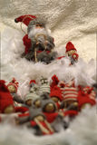 Santa Claus which entertains a group of children Stock Image