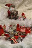 Santa Claus which entertains a group of children Stock Photo