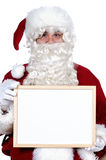 Santa Claus whit billboard Royalty Free Stock Photography
