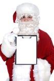 Santa Claus whit billboard Royalty Free Stock Photo