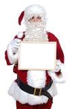 Santa Claus whit billboard Stock Photo