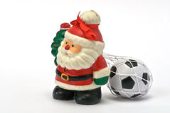 Santa Claus whit football Stock Images