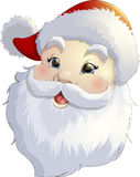Santa Claus on a white background. Beautiful festive Santa Claus on a white background Stock Image