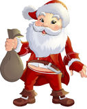 Santa Claus on a white background. Beautiful festive Santa Claus on a white background Stock Images
