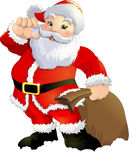 Santa Claus on a white background. Beautiful festive Santa Claus on a white background Royalty Free Stock Photos