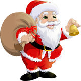 Santa Claus on a white background. Beautiful festive Santa Claus on a white background Royalty Free Stock Image