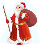 Santa Claus on a white background. Beautiful festive Santa Claus on a white background Royalty Free Stock Images
