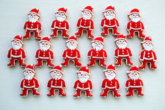 Santa Claus on a white background  , Colorful , Unique,  Christmas  Cookies Royalty Free Stock Photo