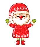 Santa Claus on a white background. Royalty Free Stock Photo