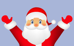 Santa Claus on a white background, vector Royalty Free Stock Image