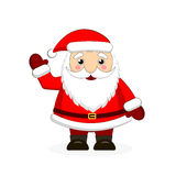 Santa Claus on white background. Vector illustration for retro christmas card Royalty Free Stock Photography