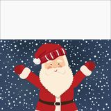 Santa Claus and white banner, vector Stock Photography