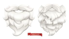Free Santa Claus. White Beard And Mustache. 3d Vector Icon Stock Images - 178370294