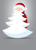Santa Claus. With White Beard Like Christmas Tree royalty free illustration