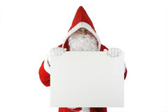 Santa Claus with white board Royalty Free Stock Images