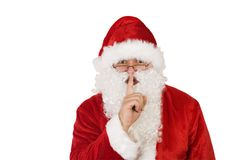 Santa claus on white with path. Santa claus on white background with path Royalty Free Stock Image