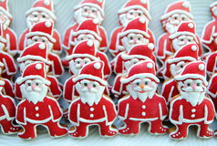 Santa Claus on a white plate   , Colorful , Unique,  Christmas  Cookies Royalty Free Stock Image