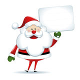 Santa Claus with white sign Royalty Free Stock Photography