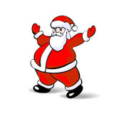 Santa Claus  on white. Vector Royalty Free Stock Images