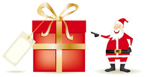 Santa claus whith a big present Royalty Free Stock Images