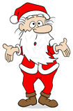 Santa claus who is perplexed Royalty Free Stock Image