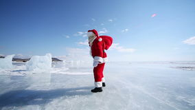 Santa Claus Wind Blows Away stock footage