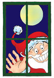 Santa claus by window Stock Images