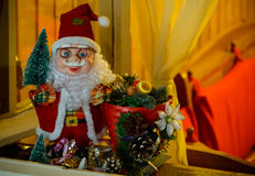 Santa Claus in the window Stock Photography