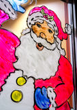 Santa Claus in Window Royalty Free Stock Image