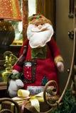 Santa Claus on the window sill. Handmade Santa Claus on the window sill Royalty Free Stock Photo