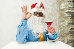Santa Claus with wineglass Stock Photography