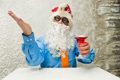 Santa Claus with wineglass Royalty Free Stock Image