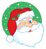 Santa claus winking classic Royalty Free Stock Image