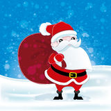 Santa Claus on winter background. Royalty Free Stock Photography