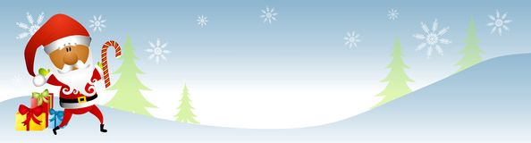 Santa Claus Winter Banner 2 Stock Photos