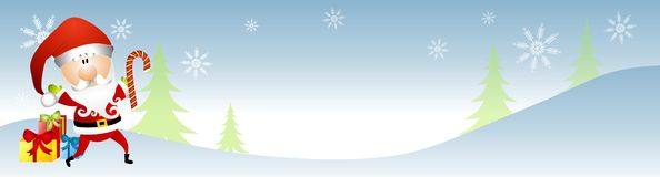 Santa Claus Winter Banner Royalty Free Stock Photos
