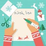 Santa Claus wish list Stock Images