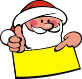 Santa claus and wish list Royalty Free Stock Photo