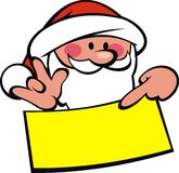 Santa claus and wish list Stock Image