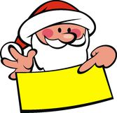 Santa claus and wish list Royalty Free Stock Images