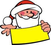 Santa claus and wish list Stock Photos