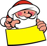 Santa claus and wish list Stock Images