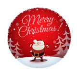 Santa Claus wishes all a Merry Christmas and Happy New Year Stock Images