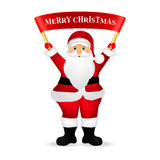 Santa Claus wishes everyone a Merry Christmas.  Stock Photography
